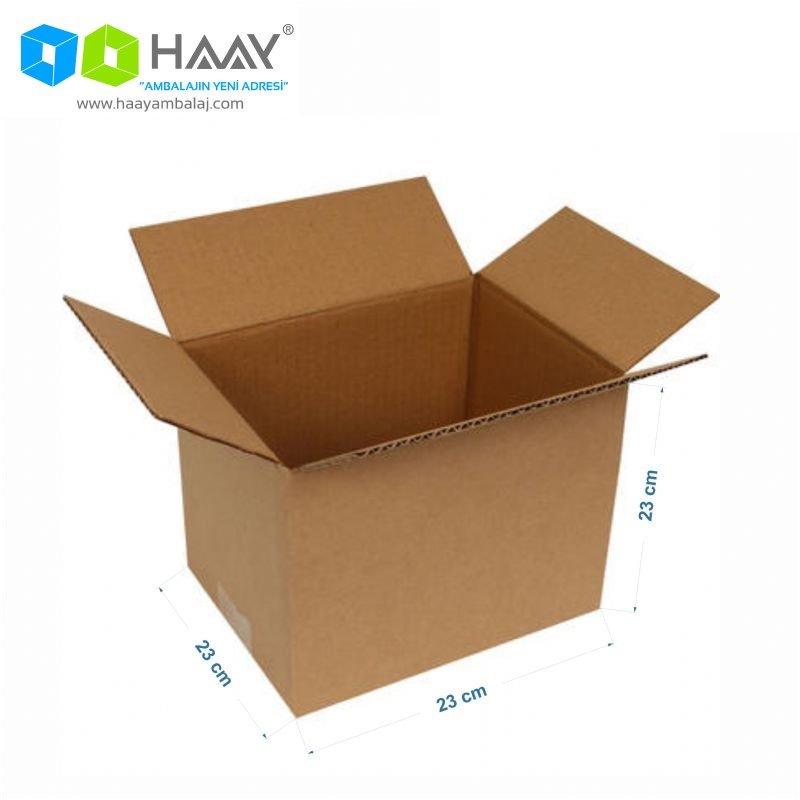 23x23x23 cm Tek Oluklu Kraft A-Box Koli