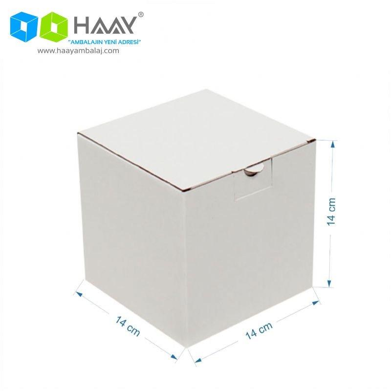14x14x14 cm Beyaz Kilitli Kutu