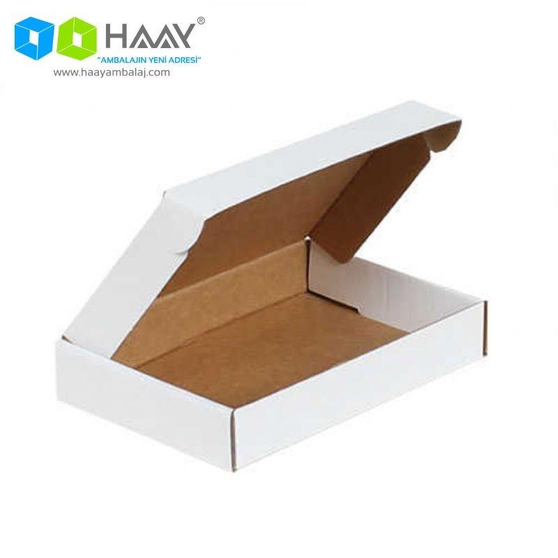 18x12x3 cm Beyaz Kilitli Kapaklı Kutu - 674