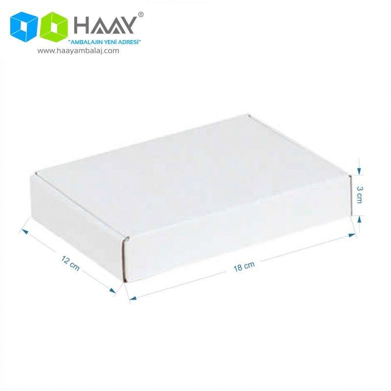 18x12x3 cm Beyaz Kilitli Kapaklı Kutu