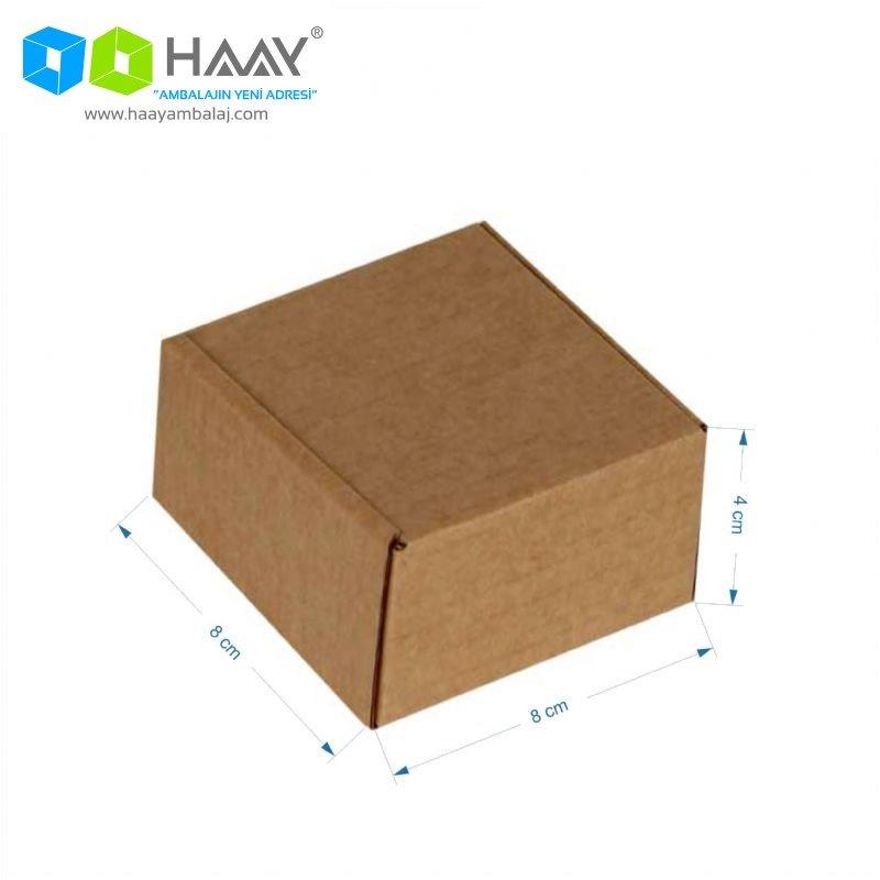 8x8x4 cm Kraft Kapaklı Kilitli Kutu