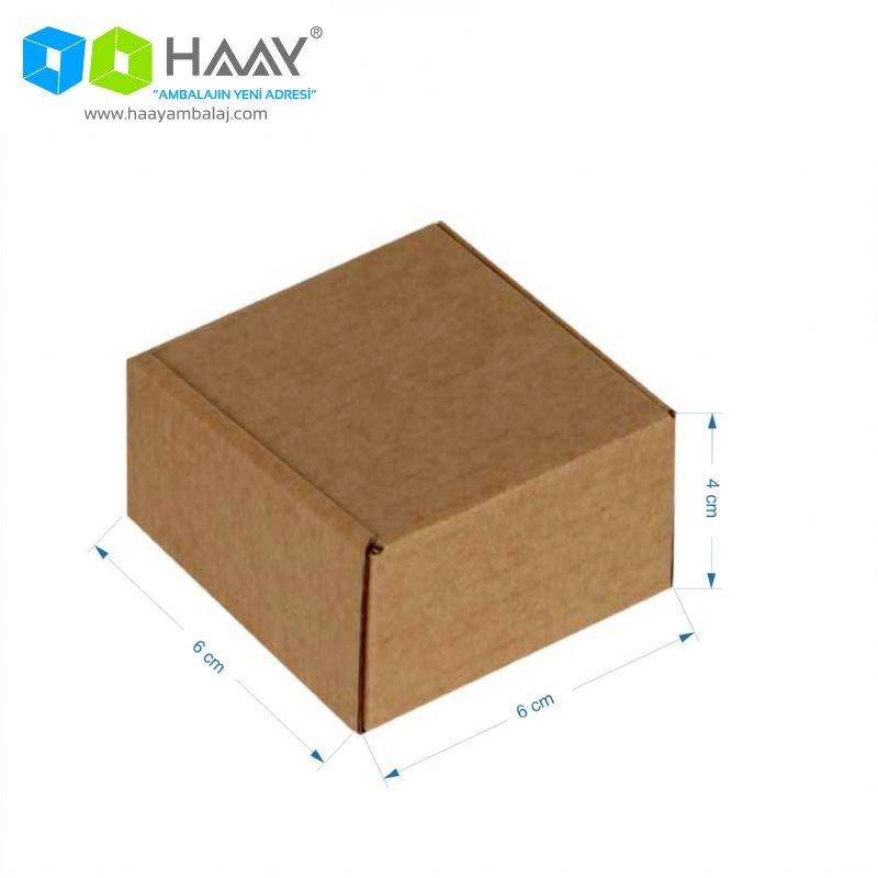 6x6x4 cm Kraft Kapaklı Kilitli Kutu