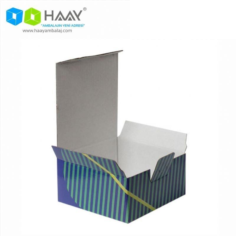 13,5x13,5x6,5 cm Turuncu Yeşilli Kapaklı Kilitli Kutu - 696