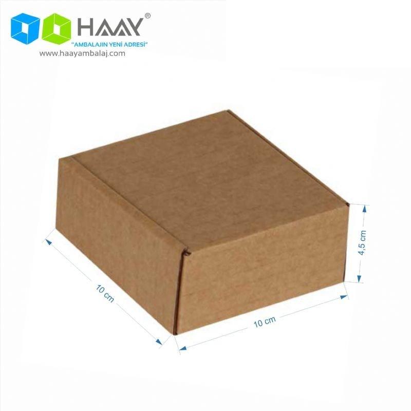 10x10x4,5 cm Kraft Kapaklı Kilitli Kutu