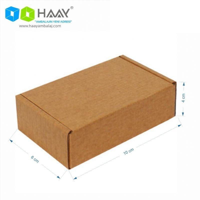 10x6x4 cm Kraft Kapaklı Kilitli Kutu