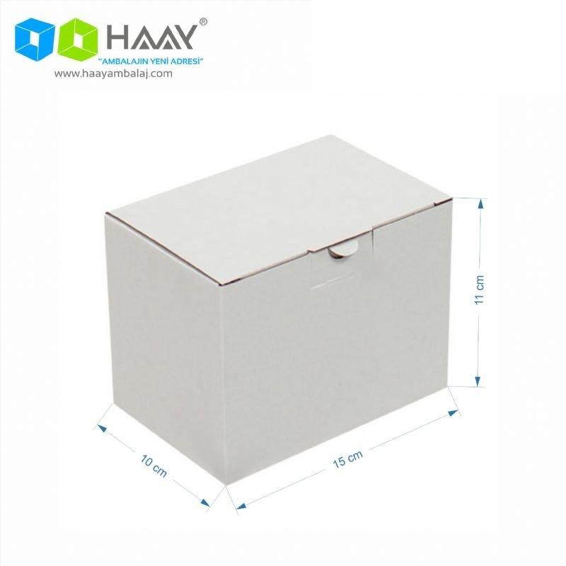 15x10x11 cm Beyaz Kilitli Kapaklı Kutu