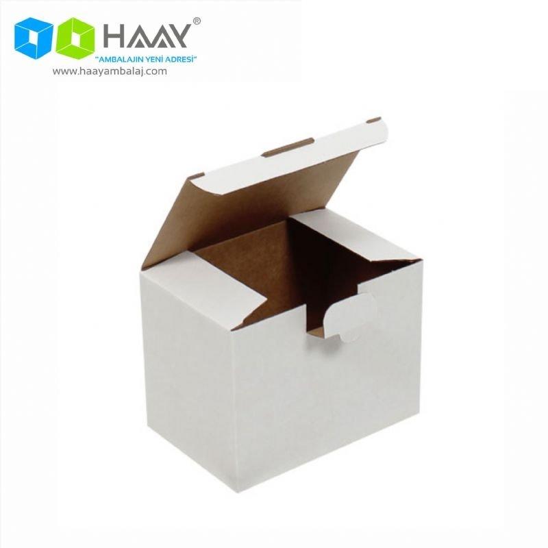 15x10x11 cm Beyaz Kilitli Kapaklı Kutu - 712
