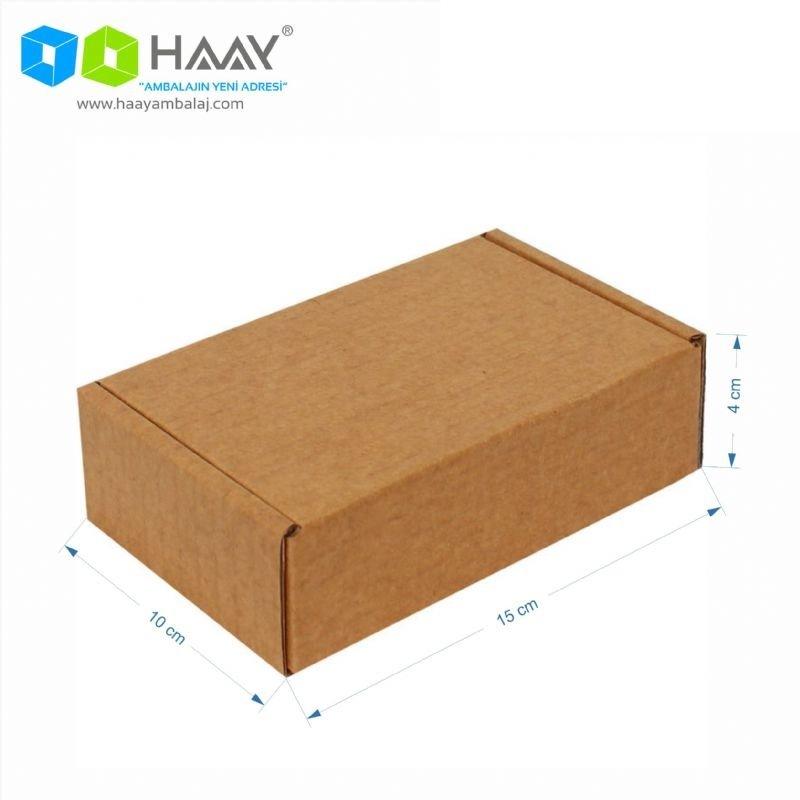 15x10x4 cm Kraft Kapaklı Kilitli Kutu