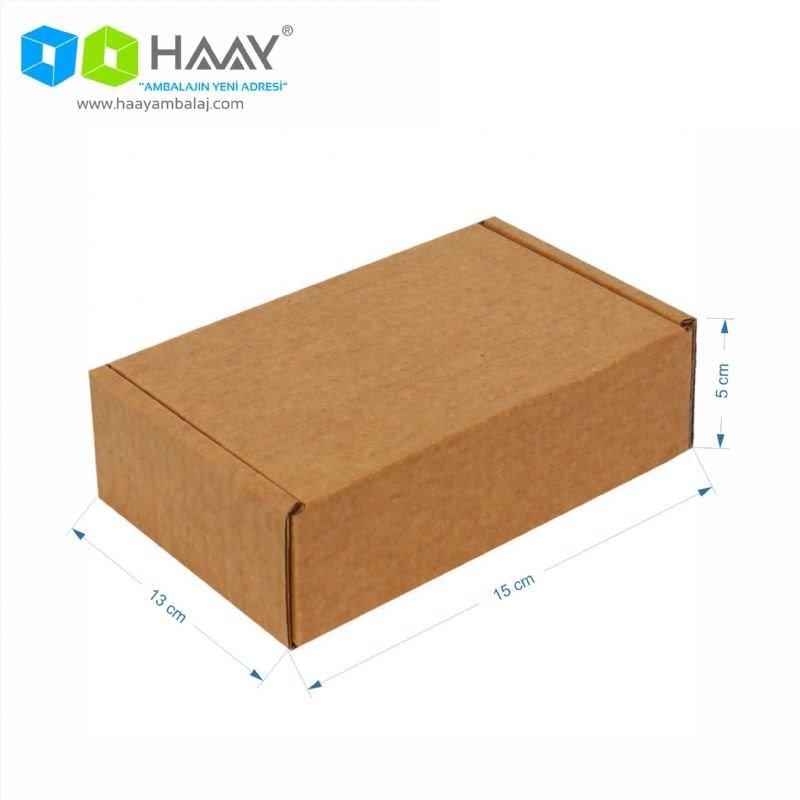 15x13x5 cm Kraft Kapaklı Kilitli Kutu