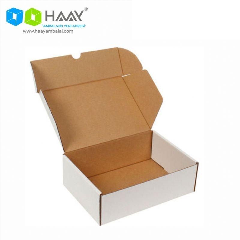 20x13x3,8 cm Beyaz Kilitli Kapaklı Kutu - 719