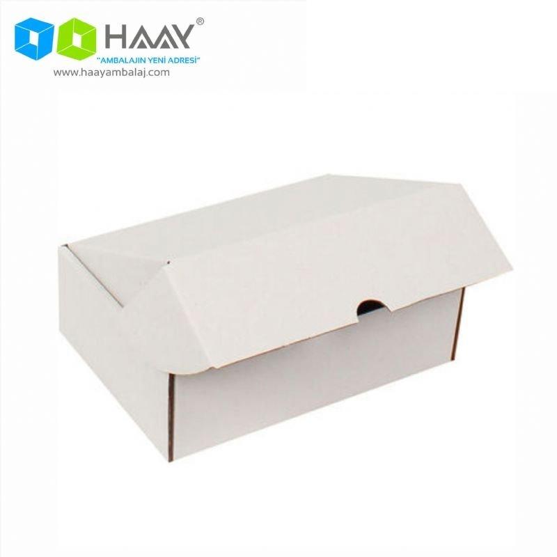 20x13x3,8 cm Beyaz Kilitli Kapaklı Kutu - 718