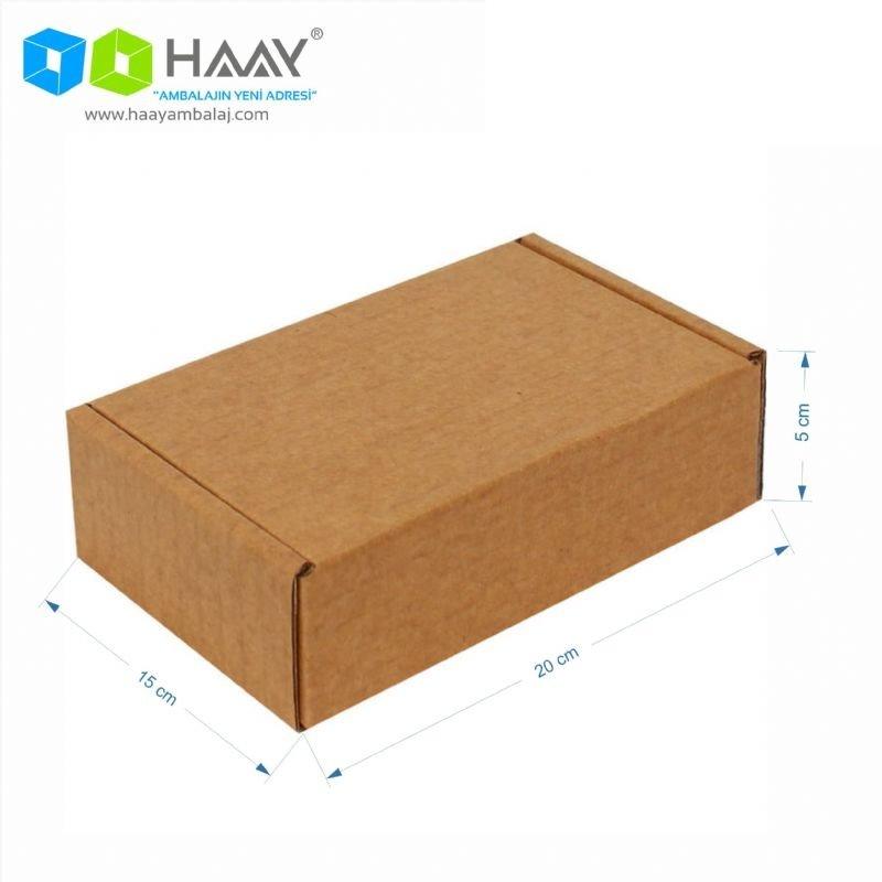 20x15x5 cm Kraft Kapaklı Kilitli Kutu