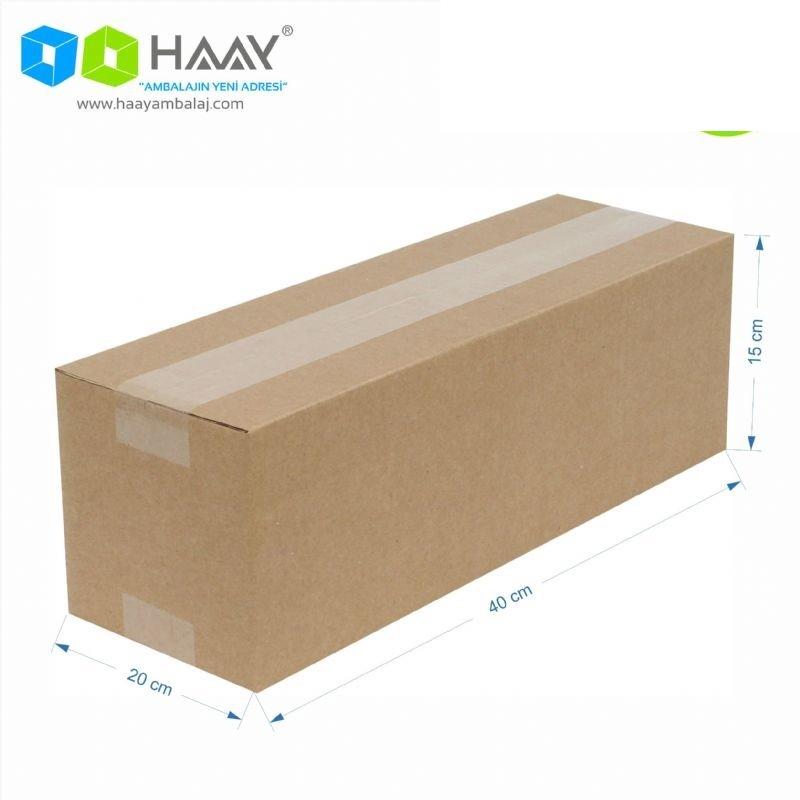40x20x15 cm Tek Oluklu A-Box Kraft Koli